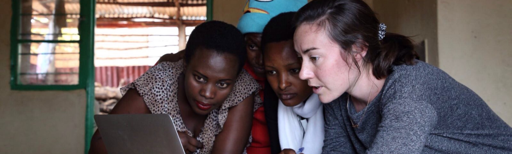 Image of julie greene in rwanda skoll scholar web banner