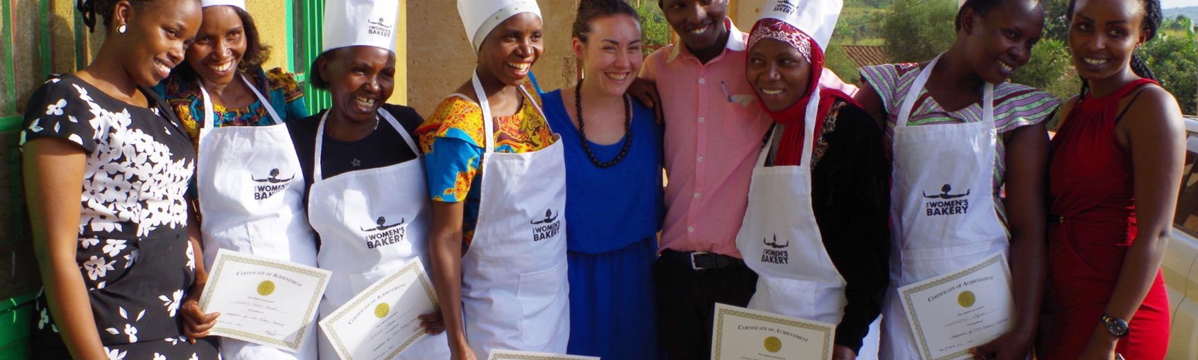 julie greene with the women's bakery team