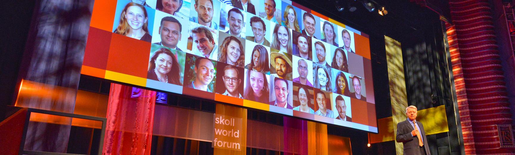 celebrating 10 years skoll scholarship at the Skoll World Forum