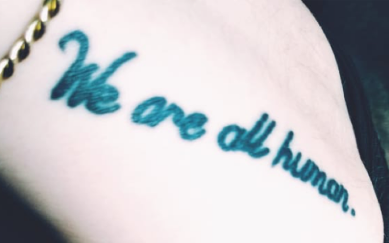 we are all human tattoo