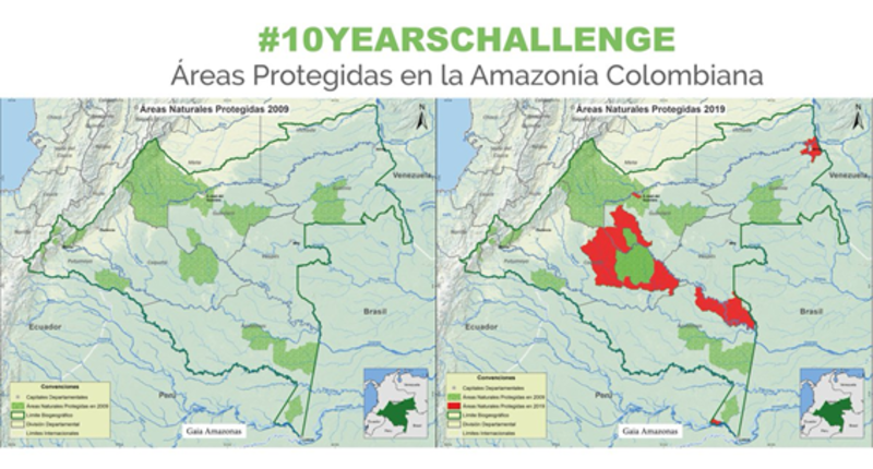 protected lands in Columbia from 2009-10